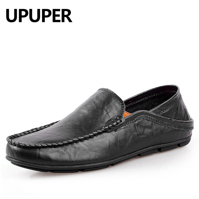 Shoes Men's Shoes Summer Loafers & Slip-Ons For Casual Black Brown White (Color : Brown Size : 41)
