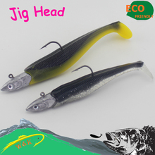 W&K Brand Jig head hook for big size bass lure swimming bait—40g 6/0 4pcs fast shipping