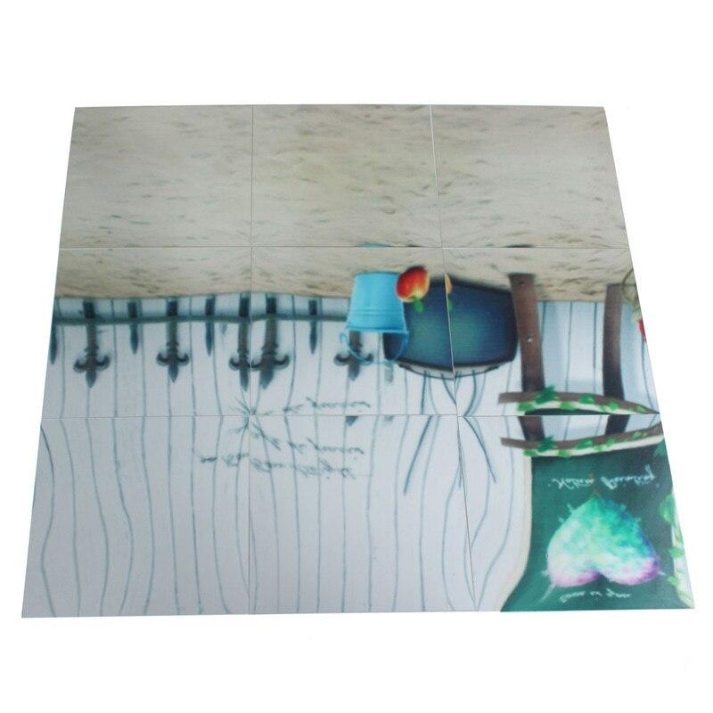 Nowy Przyjazd Wysokiej Jakości 9 Sztuk Kwadratowe Lustro Naklejki Ścienne Płytki 3D Naklejka Mozaika Domu Dekoracja Pokoju DIY Dla Pokoju Gościnnego ganek 5
