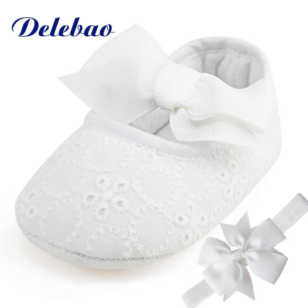 Delebao Brand Spring Soft Sole Girl Baby Shoes Cotton First Walkers Fashion Baby Girl Shoes Butterfly-knot First Sole Kids Shoes