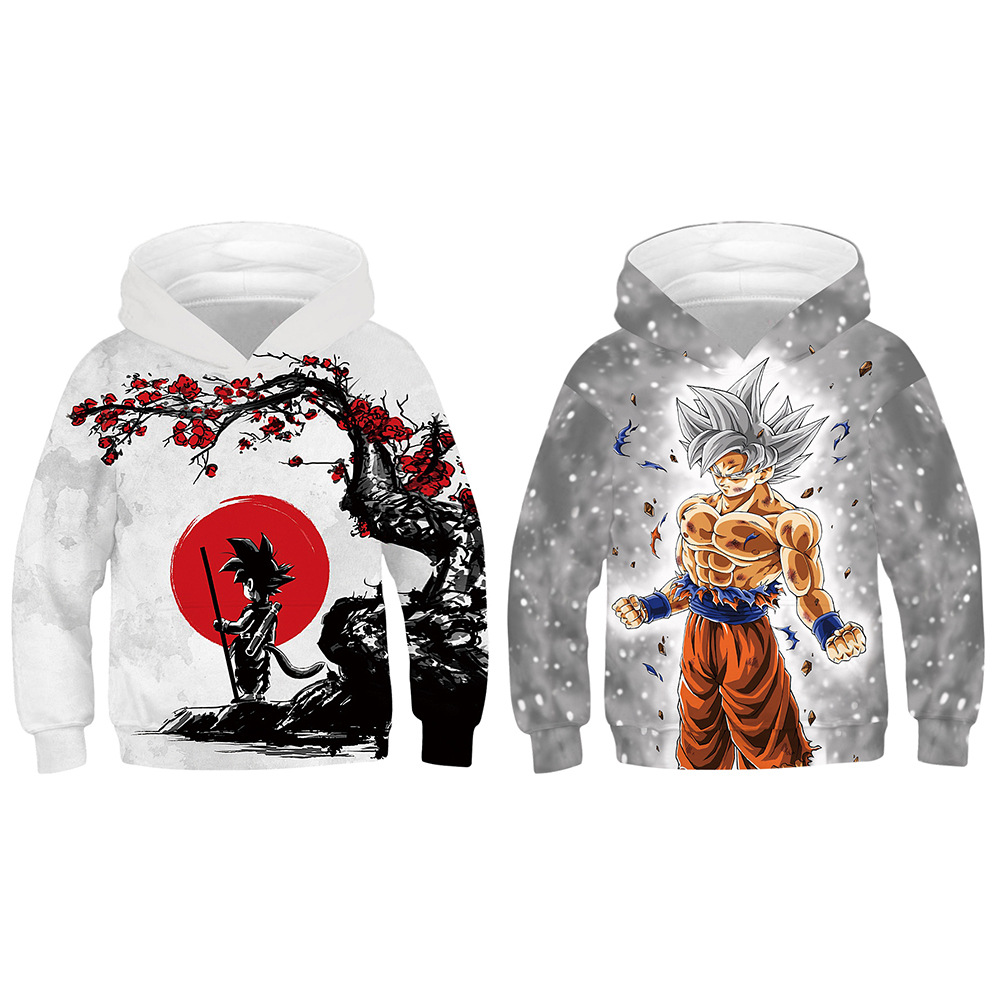 Newest Hoodies Dragon Ball Z Hooded Sweatshirt 3D Printing Children's clothes Baseball uniform Long sleeve clothing(China)