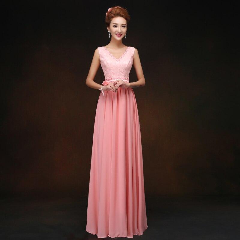 Lc074m China color coral Vestidos de dama de honor largo vestido de ...