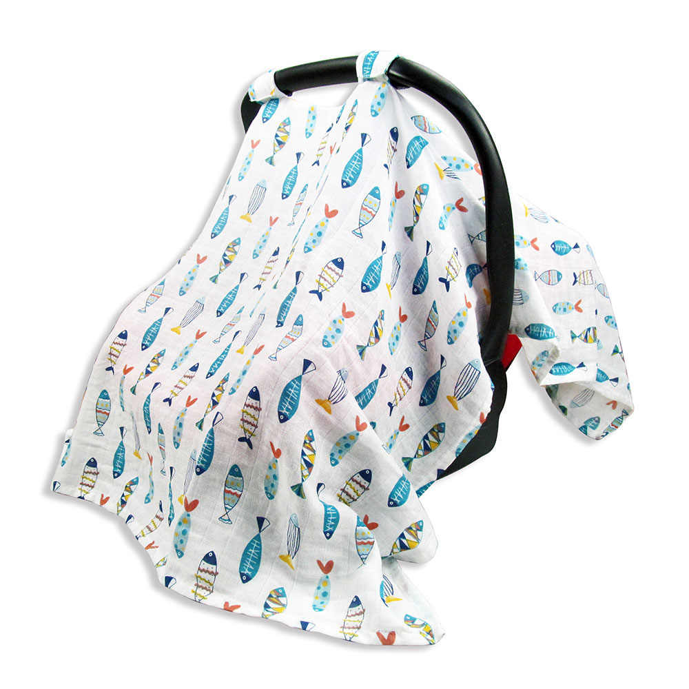 Детское одеяло для кормления новорожденных, балдахин на автолюльку, детская коляска, покрывающая узоры, напечатанный навес для сидения и чехол для кормления