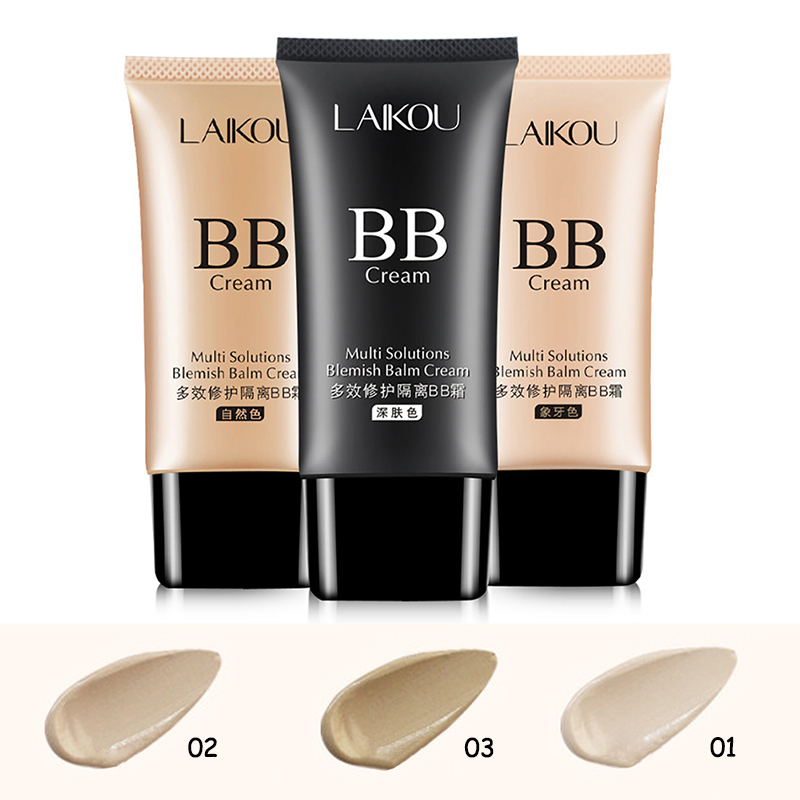 2019 BB Cream Foundation Concealer Isolation Sunscreen Whitening Makeup image