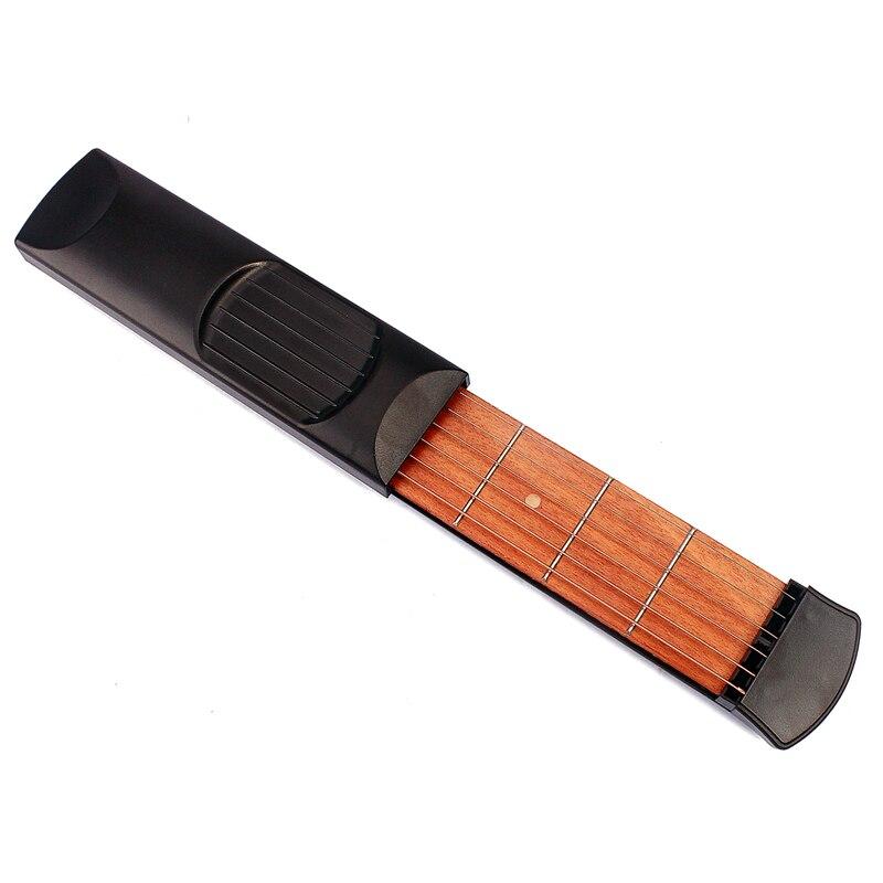 4 Fret 6 schnur-gitarre Praxis Saiten Tragbare Tasche Akustische Gitarre Eiweiß-separator-küche-werkzeug-gerät Akkord Trainer für Anfänger