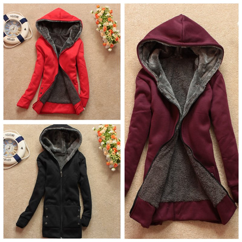 HOT Womens New Trendy Thicken Hoodie Casual Coat Outerwear Autumn ...