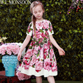 Vestidos De meninas para a Festa de Casamento e 2017 Da Marca de Verão Vestido de Princesa Traje Rosa Bianco Vestido De Menina Vestido de Crianças para Meninas