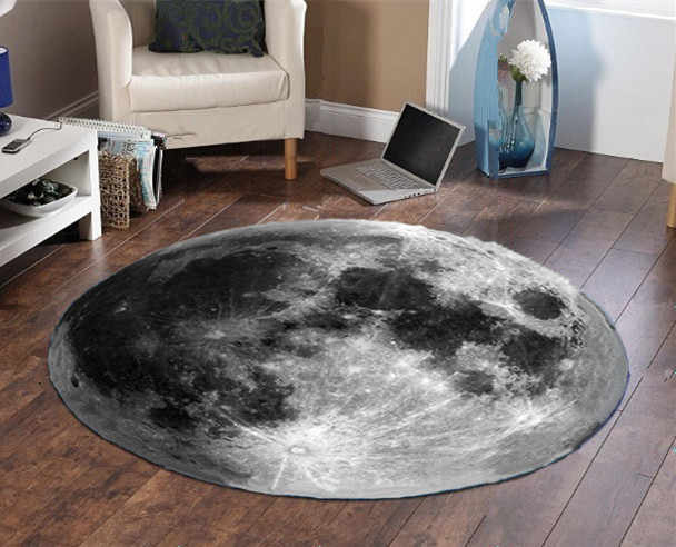 Earth Moon Round Carpet Tapetes Para