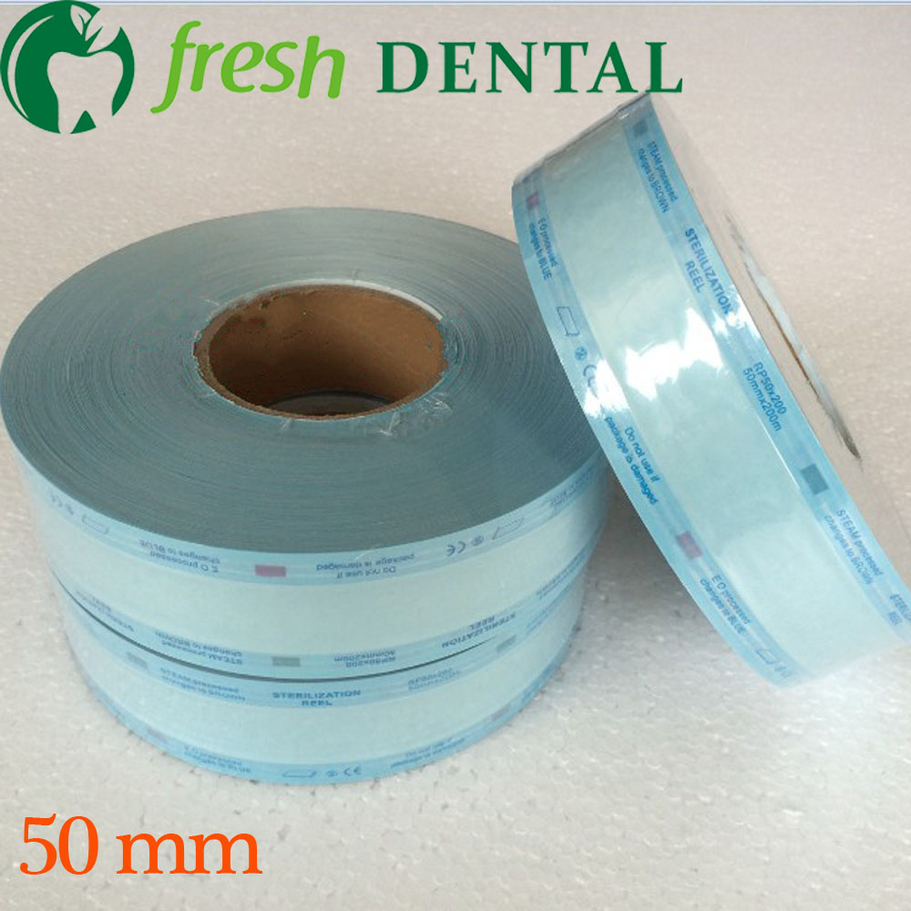 ФОТО Dental 5cm*200M disinfection sterilization bags roll bags of sterile medical sterilization bags dental roll oral SL-CS1131