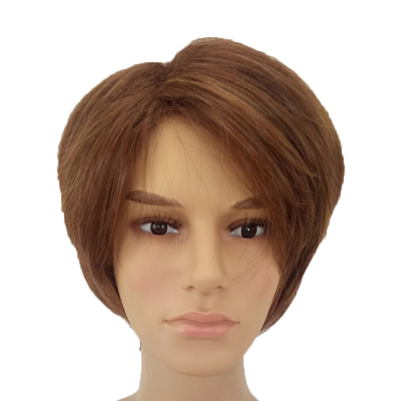 Image 4 - HAIRJOY Man  Layered Synthetic Hair Wig  Short  Brown  Wigs Free Shippingwig brownwigs freewigs free shipping -