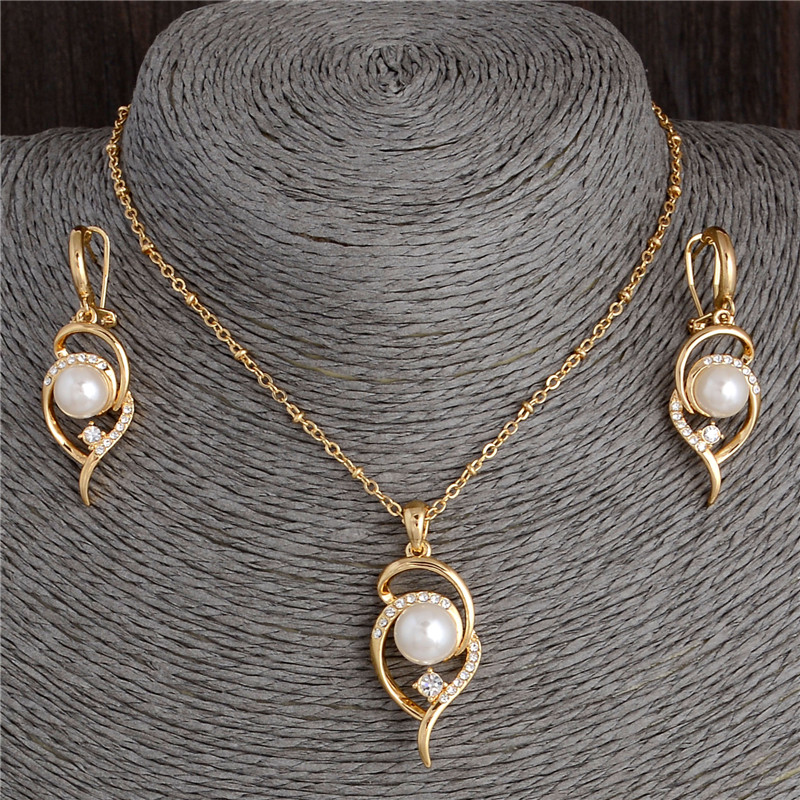 Beautiful Gold Color Wedding Jewelry Set For Women New Fashion