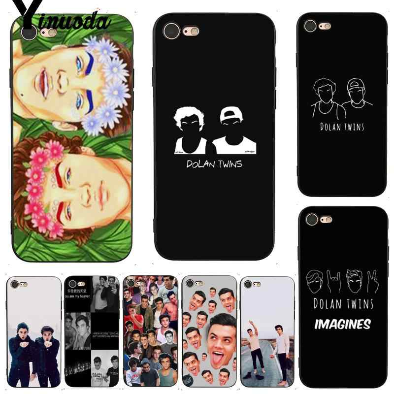 Yinuoda For iphone 7 6 X Case Dolan Twins Grayson Ethan Coque Shell Colorful Phone Case for iPhone 7 X 6 6S 8 Plus 5 XS XR