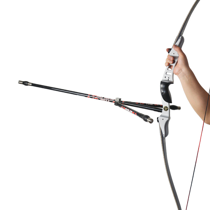 Archery Recurve Bow Stabilizer Detachable Bow Stabilizer Rod Carbon Bow Silencer Vibration Dampener for Shooting Hunting