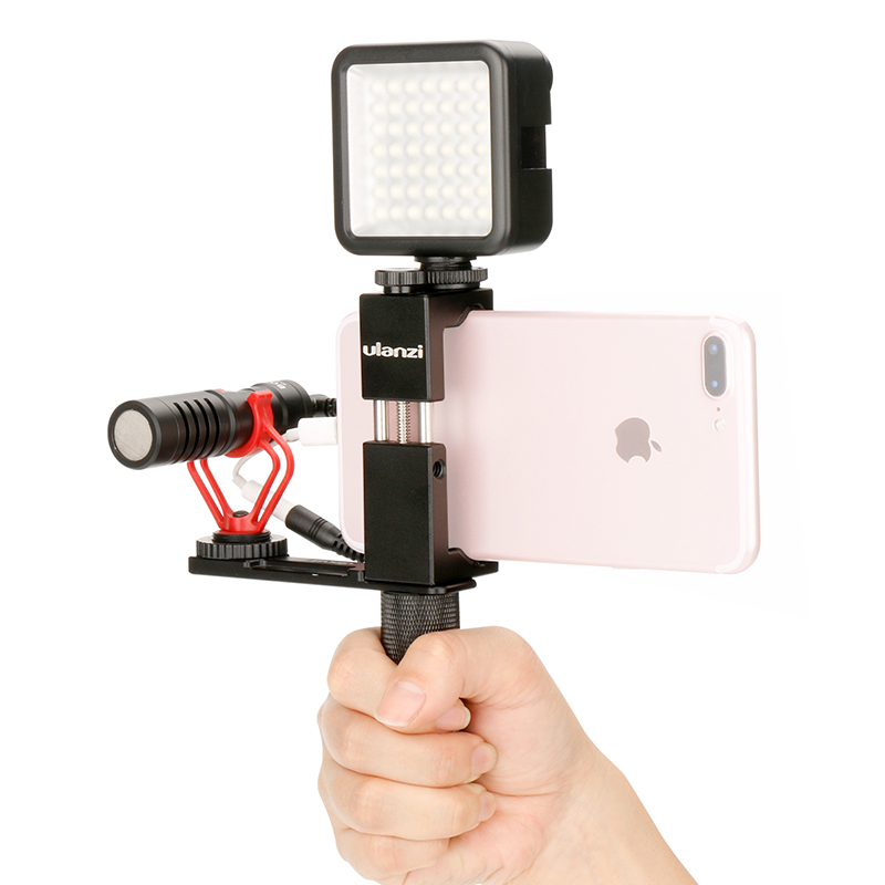 Ulanzi Aluminum Phone Video Vlogging Kit Pocket Rig With Cold Shoe Mount Vertical Shooting For IPhone 6/6s/Plus/5 Samsung Xiaomi