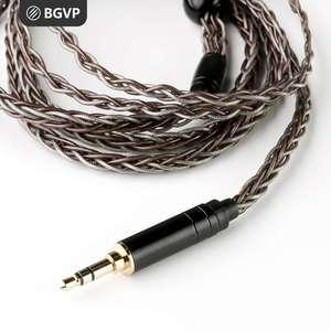 Image 1 - BGVP Cable para auriculares, 2,5/3,5/4,4mm, 6N, 8 núcleos, Frozen OCC +, MMCX trenzado mixto, para SE846 DM6 DMG, HIFI