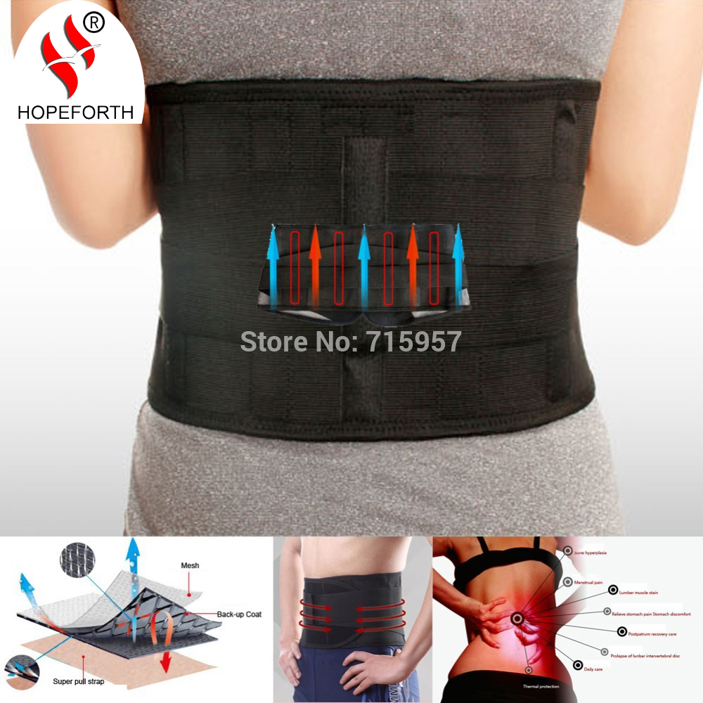 Hopeforth Lumbar Support Brace Belt Hot Sale Fashion Breathable Mesh Four Steels Plate Protection Back Waist Support Belt