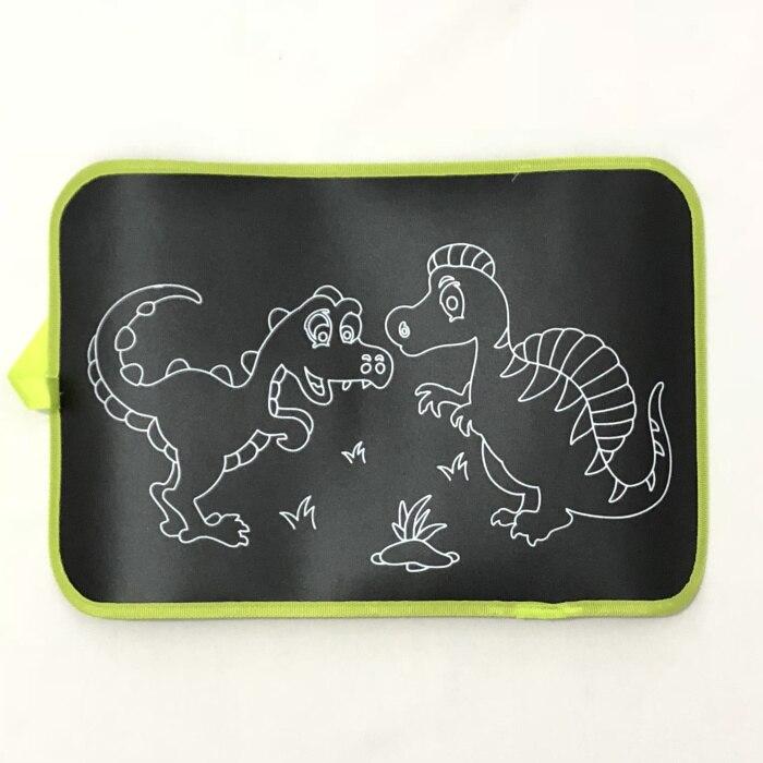 2 стиля детские коврики для рисования и книги детская портативная доска для рисования цветная меловая тканевая книга для раннего образования ребенка - Цвет: Dinosaur