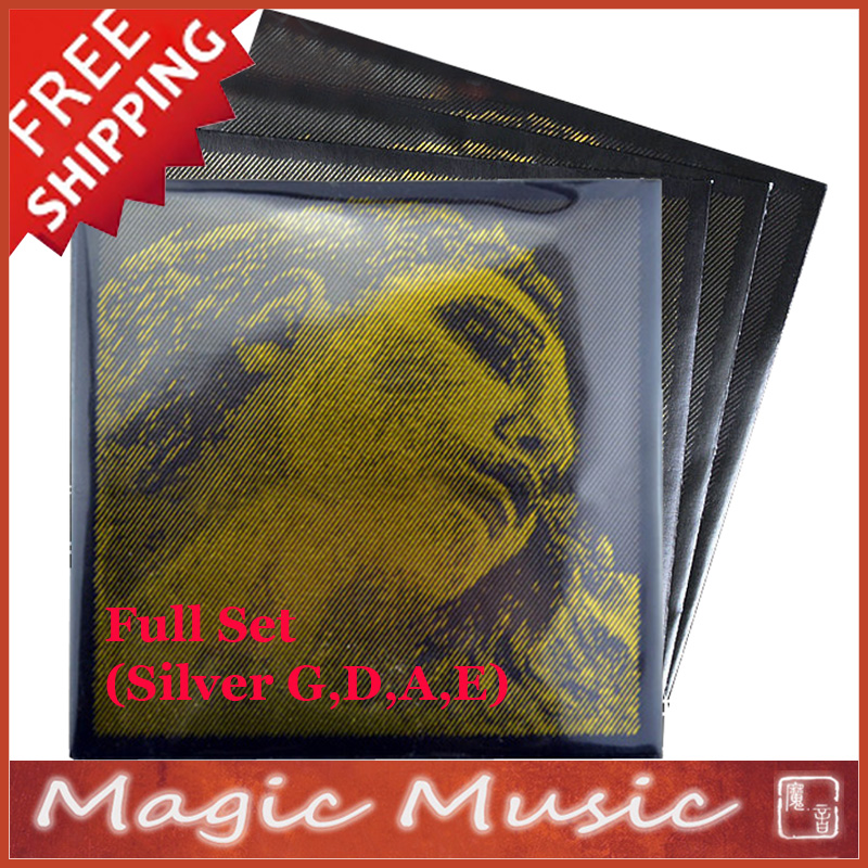 """Evah Pirazzi Gold Viola String Set 4//4 up to 16.5/"""" Medium"""