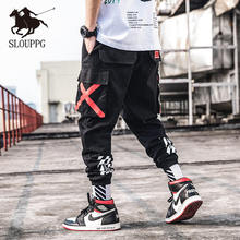 SLOUPPG Mens Fashion Military Cargo Joggers Camo Pants Men Jogger Harem Camouflage Streetwear Pockets Trousers