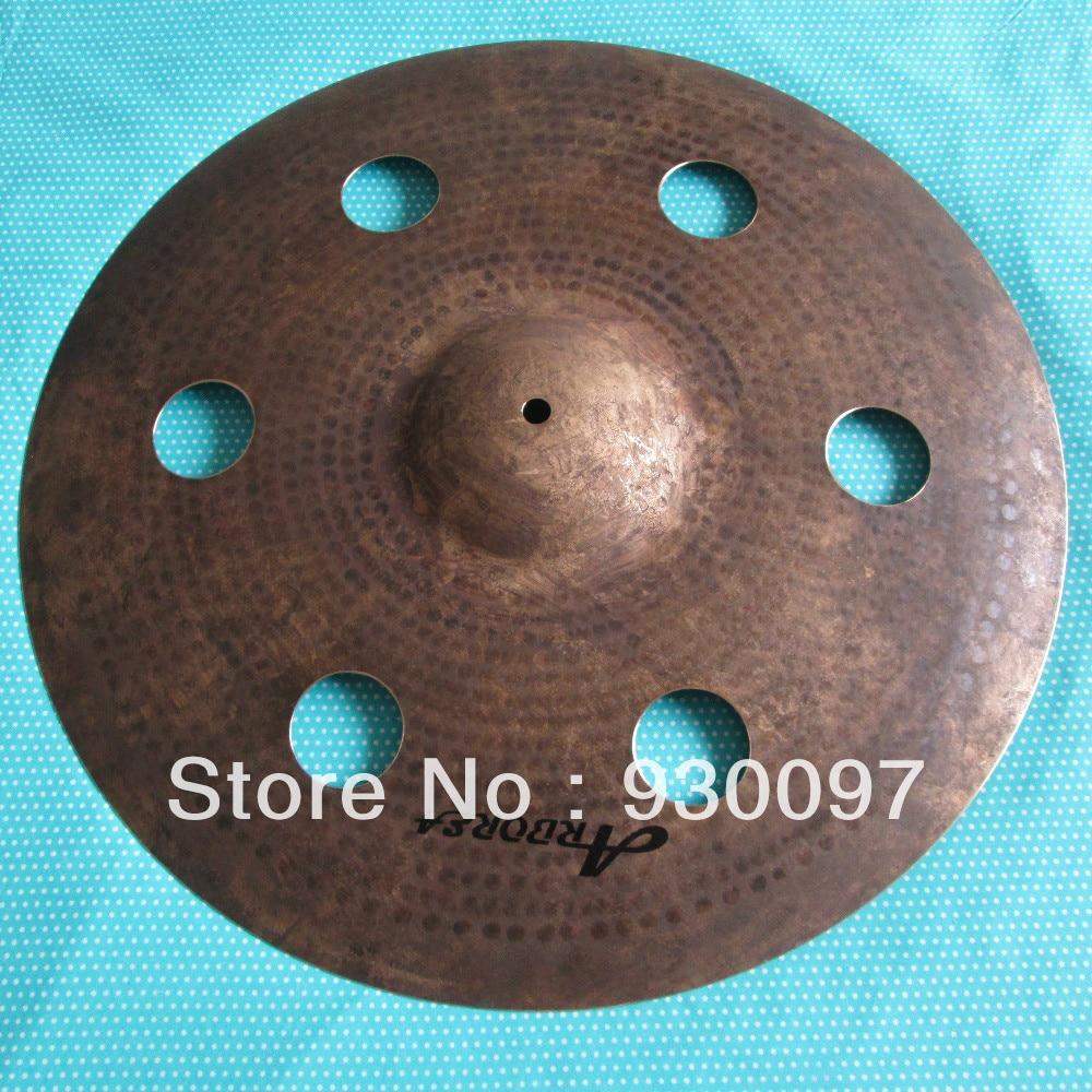 best selling hole cymbal, 100% handmade effect cymbal, professional B20 cymbal 16 lion cymbal 100