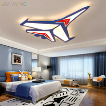 Modern Led Simple Ceiling Lights Cartoon Toy Aircraft Lamp Kids Room Decorative Iron Lamps