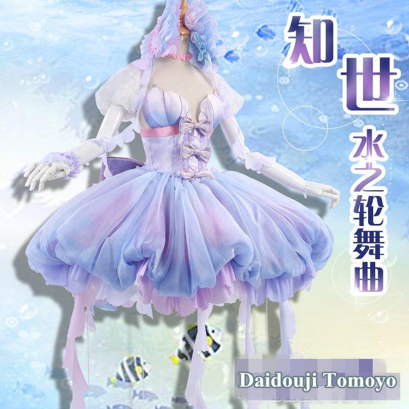 Аниме! Cardcaptor Сакура Daidouji Томойо воды колеса танцевальная музыка великолепные красивое платье форма косплэй костюм Бесплатная доставка