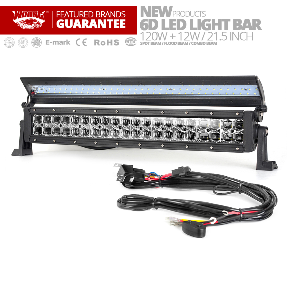 WINING New 6D Flip cover Double Row LED Light Bar for Offroad Car 4WD Truck Trailer 4x4 SUV ATV Spot Flood Combo LED Work Light
