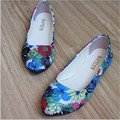 NEW! fall fashion simple woman printed flat shoes, shallow mouth casual flat shoes for women, size: 35-42 women large size shoes