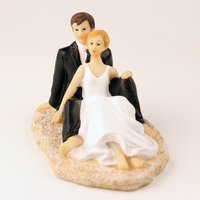 Factory Directly Selling With Lower Price Beach Themed Wedding Decoration Favors Cake Topper Couple Figurines FREE