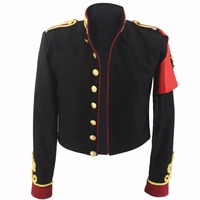 MJ Michael Jackson Black Royal England Military Jacket Handmade Cosplay Outwear Amsterdam in 1996