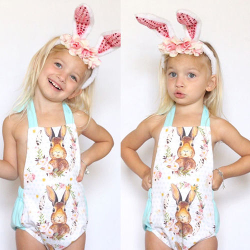 ee042f6b8399 Flower Easter Baby Girls Backless Romper Cute Baby suit Summer Girls  Outfits Jumpsuit Clothes 0 18M-in Rompers from Mother   Kids on  Aliexpress.com ...