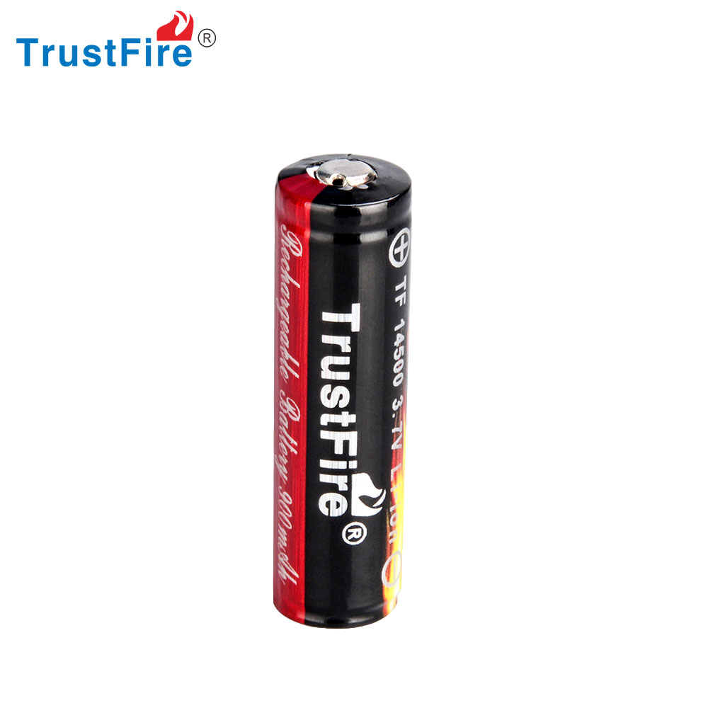 Trustfire 1 PCS 14500 900mAh Li-ion Rechargeable battery full capacity with PCB protect  for E-cigarettes flashlight headlamp