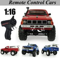 For WPL Cherokee C 24 Jeep RC Car Remote Control Toy 1:16 Four wheel Drive Climbing Car Military Truck Model 2.4G RC Car