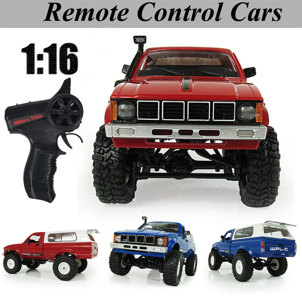 WPL Cherokee C-24 Jeep RC Car Remote Control Toy 1:16 Four-wheel Drive Climbing Car Military Truck Model 2.4G Remote Control Car