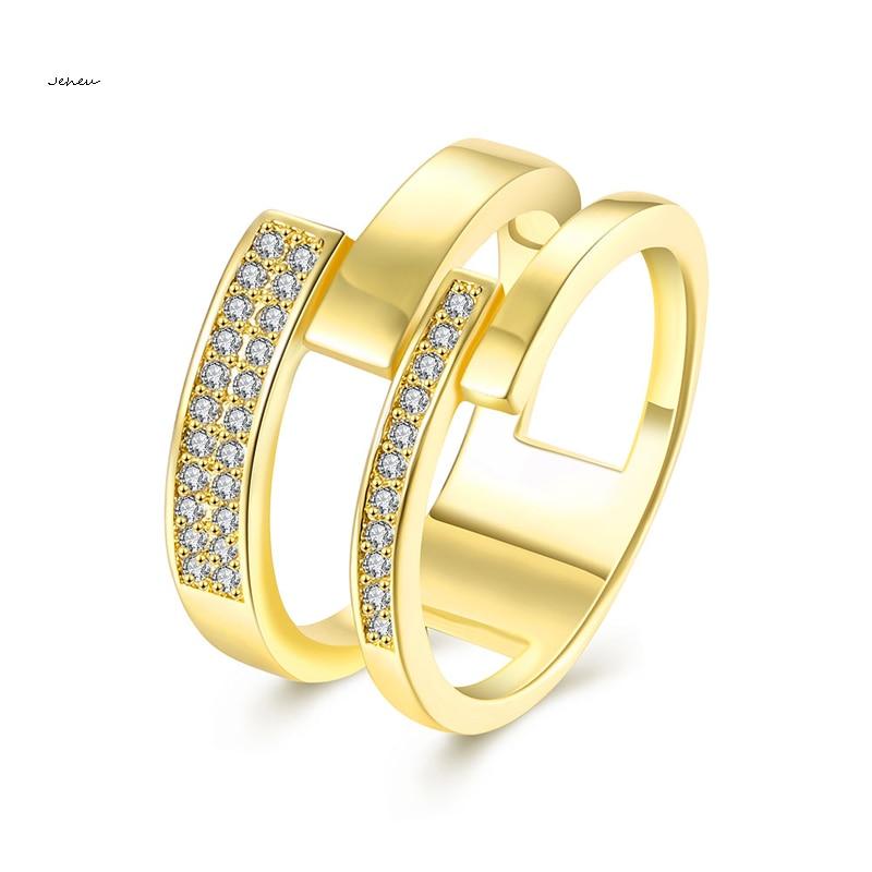 Fashion Design Jewelry Dubai Gold Ring for Women CZ Size Finger ...