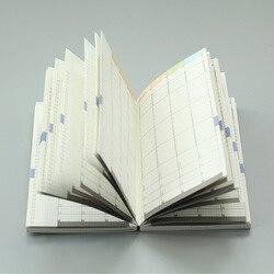 MaoTu tygodniowy Plan Planner Bullet notatnik niedatowany pamiętnik miesięczny terminarz kolorowe wydruki A5 A6 w Zeszyty od Artykuły biurowe i szkolne na