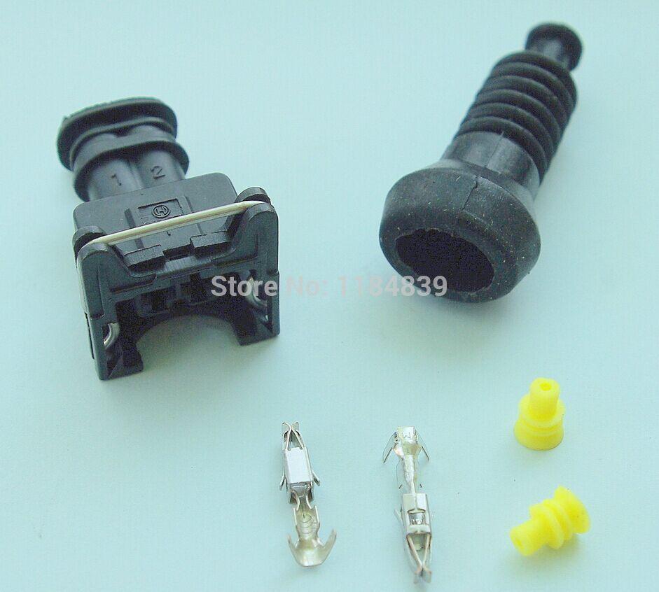 EV1 Fuel Injector 2 Pin way Electrical Wire Connector Plug ...