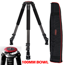 25kg Payload 703B Carbon Fiber Skilled Tripod Legs(100mm bowl)for Video Digital camera Capturing 39mm Foot Tube Diameter