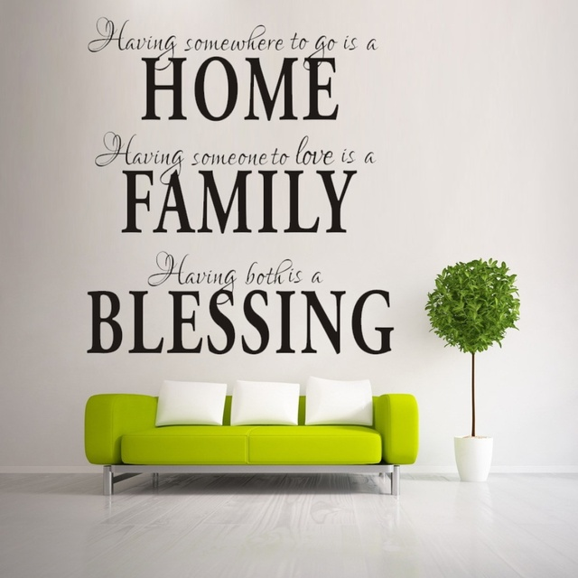 Aliexpresscom Buy HOME FAMILY BLESSING home decor creative wall