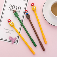 30 pcs/lot Super Mario Gel stylo pour écrire mignon encre noire Signature stylo Escolar Papelaria école fournitures de bureau cadeau promotionnel