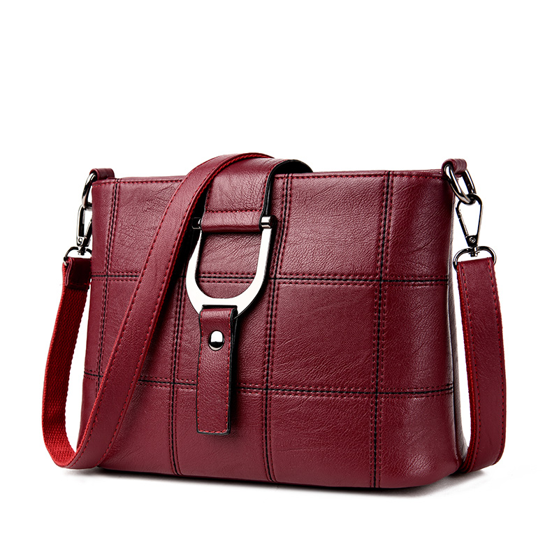 Famous Brands Designers High Quality Plaid Shoulder Bag Ladies Fashion Small Messenger Bags Women Versatile Sac Leather Handbags famous brands handmade women shoulder bags fashion high quality designer black leather handbags ladies knitting messenger bag b
