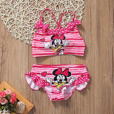 2Pcs/set Toddler Kids Swimming Customes Baby Girls Tankini Bikini Set Swimwear Summer Beach Cute Swimsuit Bathing Suit