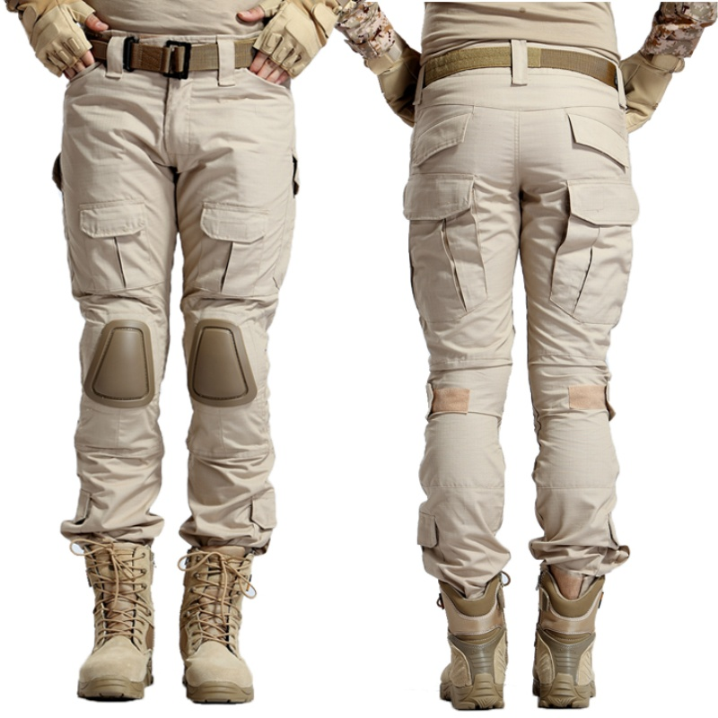 Tactical Pants Camo Men's Cargo Pants With Knee Pads Camouflage Battlefield SWAT Army Military Hunting Airsoft Combat Trousers