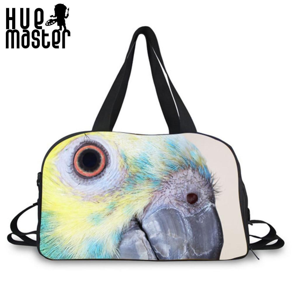 Parrot Pattern Design Large Capacity Students Duffle Bags Traveler Accessories Large Capacity Travel Duffle Bags Crossbody Bags