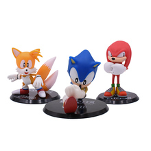 3 Styles Anime Cartoon Sonic Tails Knuckles Figures PVC Shadow Figure Christmas Gift Baby Hot Toy For Children