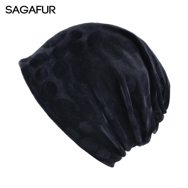 SAGAFUR Cap Men Women Casual Hot Hiphop Fashion Flannel Multifunctional Beanie Brand New Autumn 2017 Women's Hats Caps  #MZ754 new arrival fashion brand yolo sport cap men beanie knitted hat gorras hiphop hats for women cap hot sale 1mz0530 free sipping