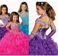 Театрализованное платья мода бальное платье кристалл / горный хрусталь из бисера органзы роскошные свадебные платья с блестящие