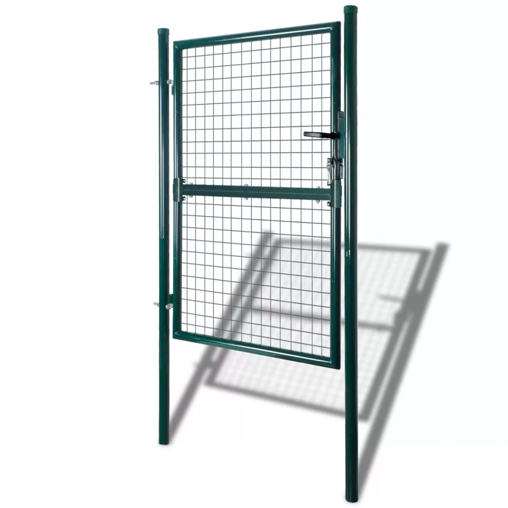 VidaXL Galvanized Wire Fence Gate 85.5 X 150 Cm / 100 X 200 Cm Stability And Corrosion Resistance Practical BarrierVidaXL Galvanized Wire Fence Gate 85.5 X 150 Cm / 100 X 200 Cm Stability And Corrosion Resistance Practical Barrier