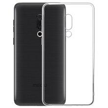 Silicone Case Soft Clear TPU Back Cover Meizu 16 Plus 15 Lite M6T M8C E3 M6S M6 Note Pro 7 M5C E2 M5S M5 U10 U20 M3S M3 6S