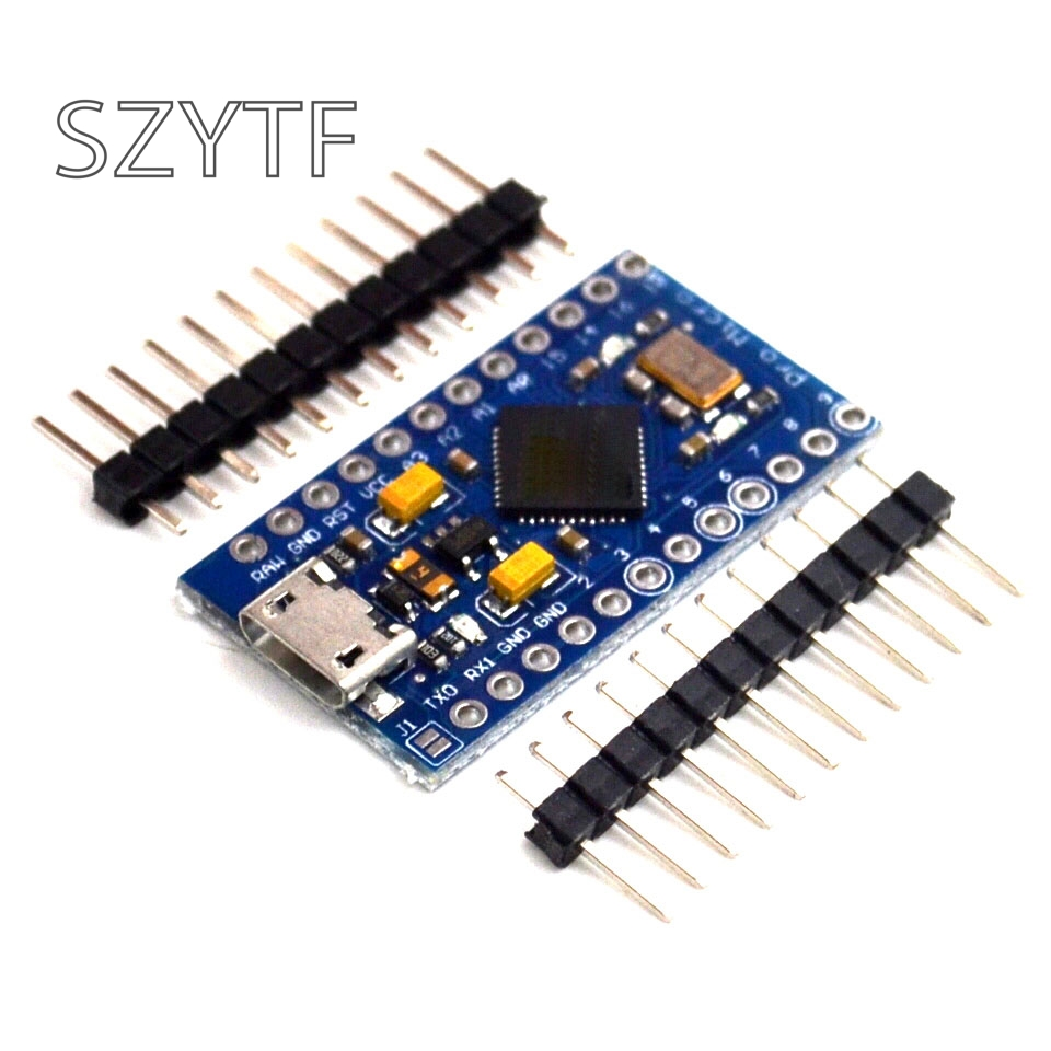 New Pro Micro ATmega32U4 5V/16MHz Module With 2 Row Pin Header For Leonardo 1PCS